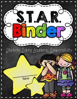S.T.A.R. Binder & Folder Cover {Chalkboard Theme}