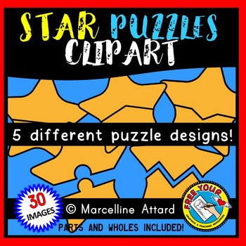 STAR PUZZLES CLIPART: SELF-CORRECTING PUZZLE TEMPLATES: PA