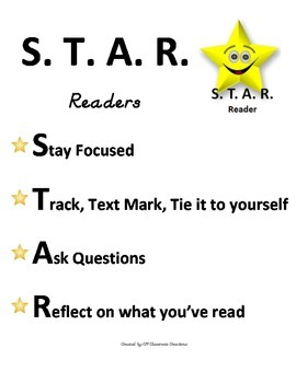 S.T.A.R. Readers Poster