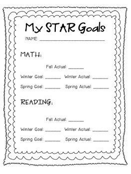 STAR Test Goal Sheet