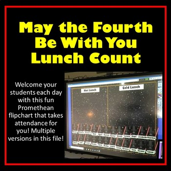 STAR WARS Themed Attendance & Lunch Count Promethean ~  Cl