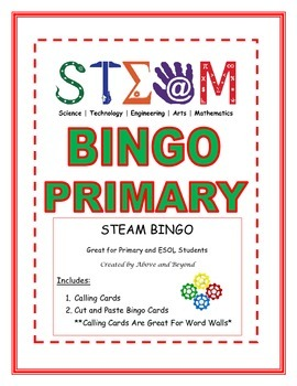 STEAM Bingo for Primary and ESOL Students