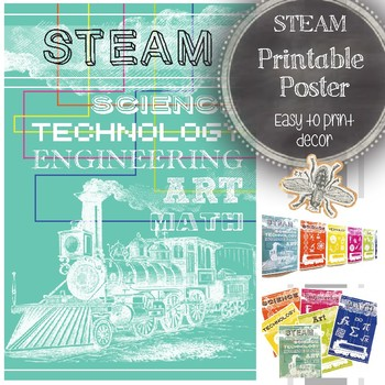 STEAM Classroom Poster: Science, Technology, Engineering,