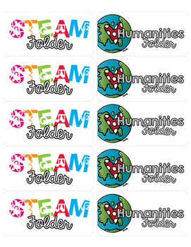 STEAM & Humanities - Folder Labels