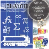 STEAM Math Classroom Poster: Modern Bulletin Board Ideas