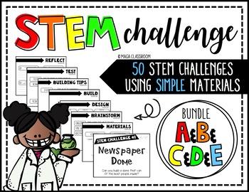 STEM Activity - 50 Challenges BUNDLE