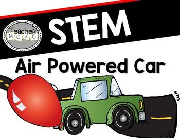STEM Challenge:  Air Powered Car {Printables}