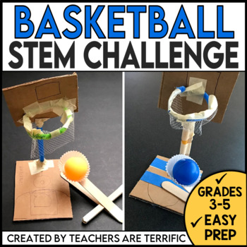 STEM Challenge Basketball Goals and Ball Thrower