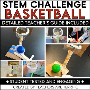 STEM Activity Challenge Basketball Goals and Ball Thrower