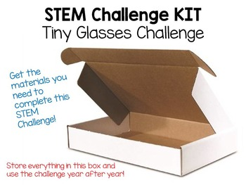 STEM Challenge KIT ~ Tiny Glasses Challenge ~ EVERYTHING Y