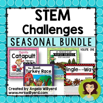STEM Challenge Seasonal Bundle, Volume 1 - Grades 3-5 - Po