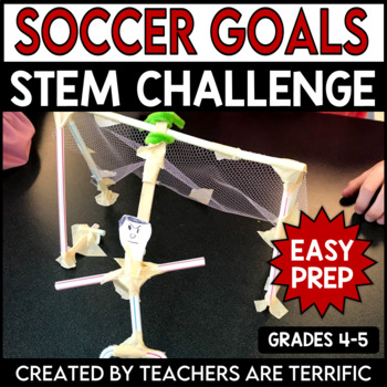 STEM Activity Challenge Soccer Goal and Goalie