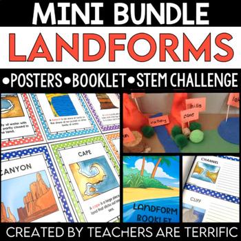 STEM Challenge and Land Forms Booklet Bundle