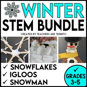 STEM Activities Challenge Bundle Snow Series Snowflakes, S
