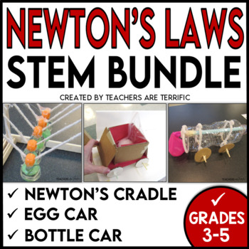 STEM Activities Challenge Bundle featuring Newton's Laws o