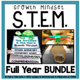 STEM Challenges for the ENTIRE YEAR with Growth Mindset Flipbooks