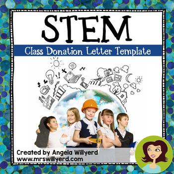 STEM Class Donation Letter Templates - FREEBIE