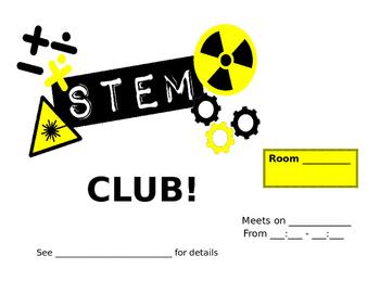 STEM Club Flyer