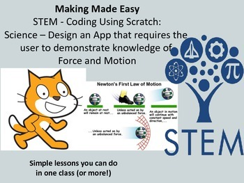STEM Coding with Scratch: Science - 3 laws of Motion
