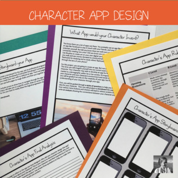 STEM Crossover English Activity: Character designs an App