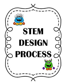 STEM Design Process Mini Posters Monster Theme