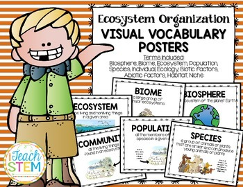 STEM Ecological Organization Visual Vocabulary Posters