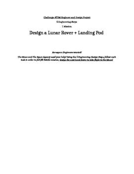 STEM Engineering Challenge: Design a Lunar Rover + Landing Pod