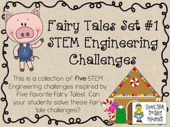 Fairy Tales STEM ~ STEM Engineering Challenge Five Pack ~
