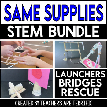 STEM Activities Challenge Bundle: Same Supplies Two Tasks
