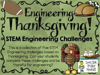 Thanksgiving STEM ~ STEM Engineering Challenges Pack ~ Set