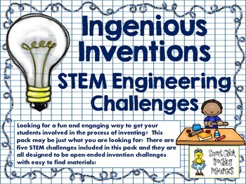 STEM Engineering Challenges Pack ~ Ingenious Inventions~ S