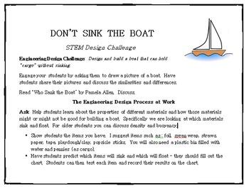 STEM Engineering Design Challenge - Don't Sink the Boat