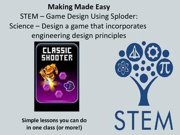 STEM Game Design with Sploder: Engineering Design Principles