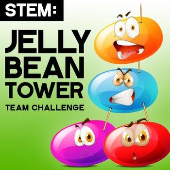 STEM: Spring Easter - Jelly Bean Tower - Engineering, Inte