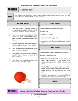 STEM Lab Science Experiment - ping pong chutes