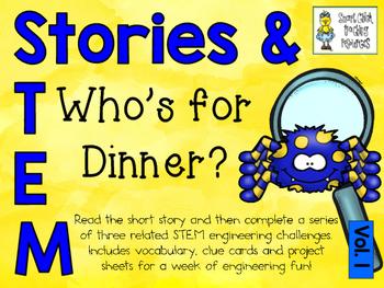 Stories & STEM ~ Who's for Dinner?  ~ 3 STEM Challenges us