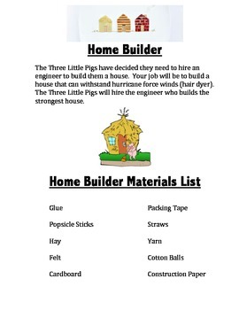 STEM Project House Builder