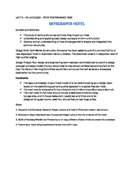 STEM SPANISH ASSIGNMENT - SKYSCRAPER HOTEL