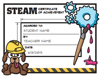 STEM / STEAM Award Certificates