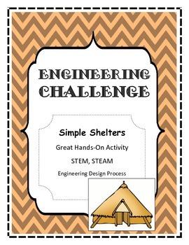 STEM, STEAM, Engineering Challenge SIMPLE SHELTERS