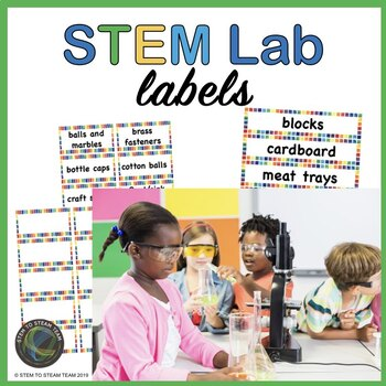 STEM / STEAM Lab Labels for your Materials