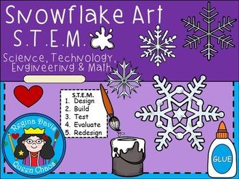 STEM Science, Technology, Engineering & Math: Snowflake Art