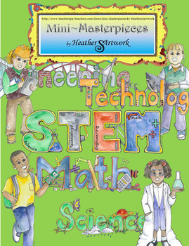 Clipart: STEM Watercolor Images by HeatherSArtwork