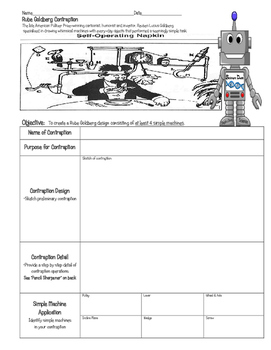 STEM Simple Machine RUBE GOLDBERG Contraption ~ 5th 6th 7t