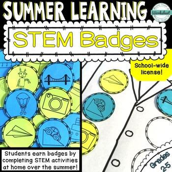 STEM Summer Badges {School-wide License}