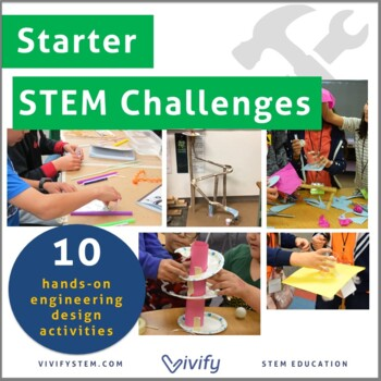 Starter STEM Challenges Bundle (Take-Home/In-Class STEM Projects) by Vivify STEM