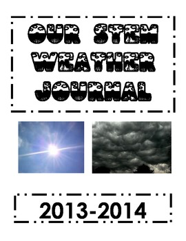 STEM Take Home Weather Journal (Spanish and English)