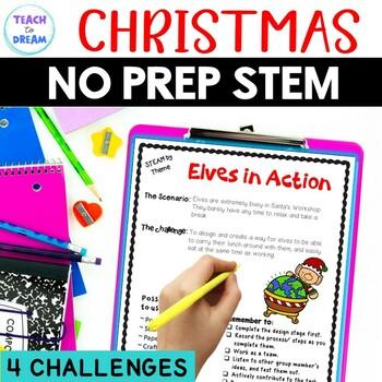 STEM Task Cards, STEAM Task Cards - Christmas Theme: BUNDLE!