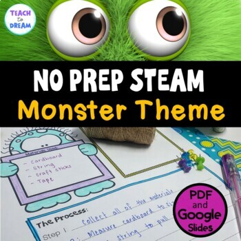 STEM Task Cards, STEAM Task Cards - Monster Madness Theme: