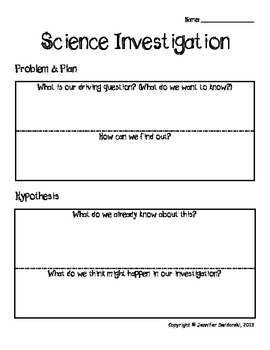 STEM Template for any Science Investigation!